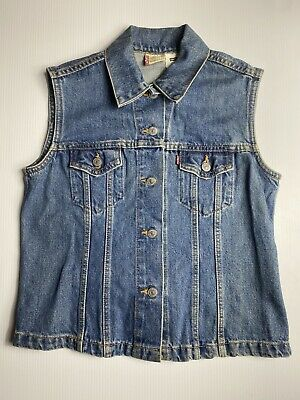 Levis Vest Denim Red Tab Vintage Made In USA