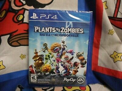 Playstation 4 Plants vs Zombies Battle for Neighborville Game BRAND NEW SEALED