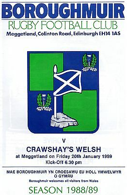 Jan 89 BOROUGHMUIR v CRAWSHAY'S WELSH