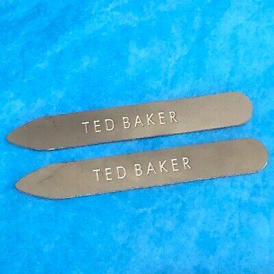 Ted Baker Metal Alloy Shirt Collar Stiffeners 6.5 cm Stays