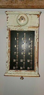 Early Painted Wooden Annunciator Hotel Butler Call ..