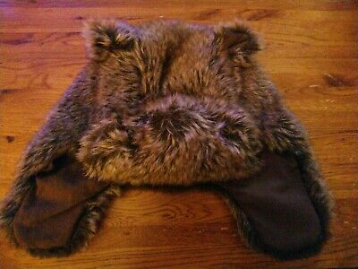 Boys Brown Bear Furry Hat Age 1-2 Years Next