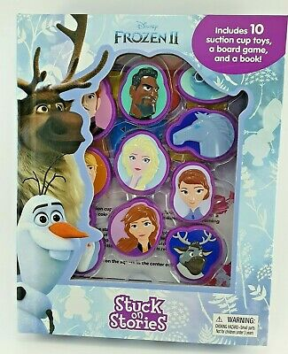 Disney Frozen II Stuck On Stories, 10 Suction Cup Toys, Board Game, Gift