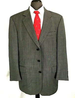 Andrew Fezza mens wool gray suit pleated cuffed pants 42R
