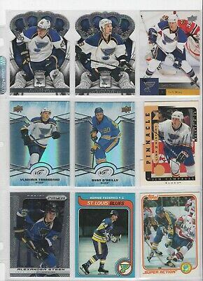 (Lot Of 18) St. Louis Blues  O'reilly, Federko, Tkachuk, Hull, Campbell Auto Rc