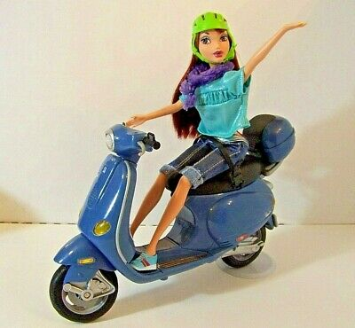 BARBIE MY SCENE DOLL LOT WITH VESPA - MOPED, CLOTHES, ACCESSORIES, SHOES - used