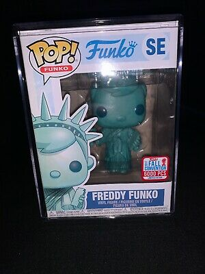 Funko Pop! Freddy Funko SE NYCC 2017 Statue Of Liberty. W/ POP STACK.