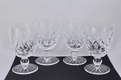 """Set Of 4 Waterford Crystal Donegal 5-1/4"""" Water Goblets #2 - Mint"""