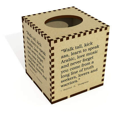 Square Quote By Hunter S. Thompson Wooden Tissue Box Cover (TB00017188)
