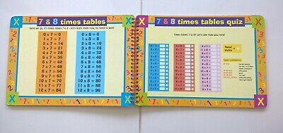 TIMES TABLES Write-on Wipe-off Children's Book