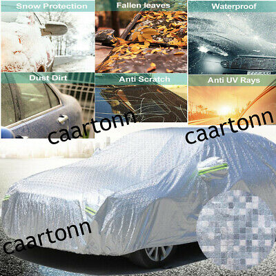 Universal Heavy Duty Full Car Cover 100% UV Protection Waterproof Breathable