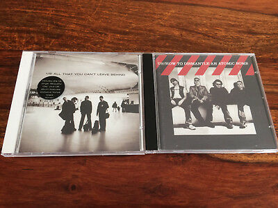 U2 CD Bundle Joblot - All that you can't leave behind & How to Dismantle an AB