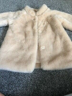 Girls M&S Fake Fur Coat Age 5-6