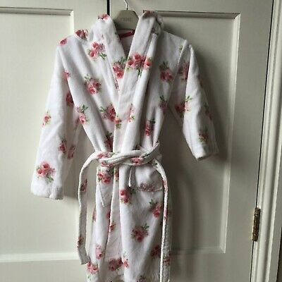 Girls Towelling Dressing Gown - Little White Company - 5-6 Years