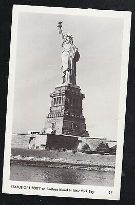 Vintage Antique Postcard Statue of Liberty on Bedloes Island in New York Bay