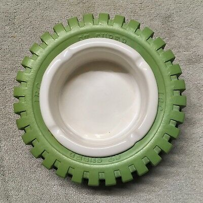 IRC GT. Super Green Rubber Tyre Ashtray.