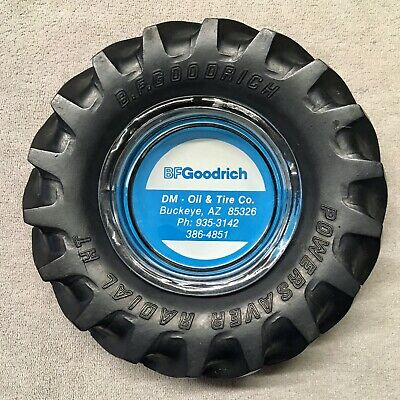 "BF Goodrich ""Powersaver Radial HT"" Rubber Tyre Ashtray."