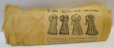 Antique Victorian Empire Dress Pattern w/ Leg-of-Mutton Sleeves
