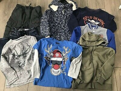 Boys Mainly Next Clothing Bundle With Coat And Christmas Tops Age 5-6 Years