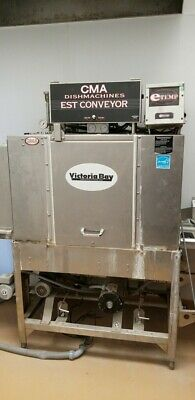 "CMA Dishmachine EST-44 44"" High Temp Conveyor Dishwasher 243 Racks/hr"
