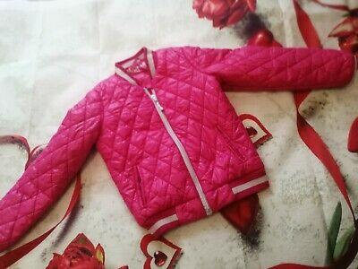 Michael Kors school Coat Childrens Kids Girls Pink quilted Jacket  winter Age 6
