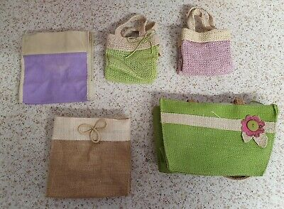 23 assorted hessian bags for floristry/crafts