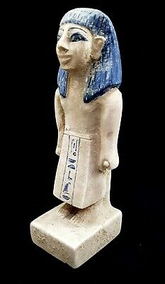 Ancient Egyptian Farmer Sculpture Amazing Figurine Hieroglyphic Antique Statue