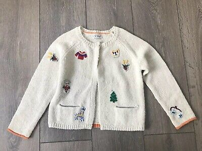 Gorgeous Girls Next Christmas Cardigan Age 5-6 Years
