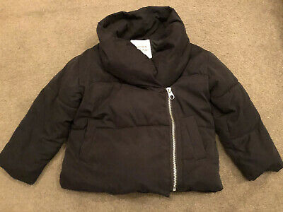 Zara Thick Padded Black Girls Coat, Age 5, Ex Cond