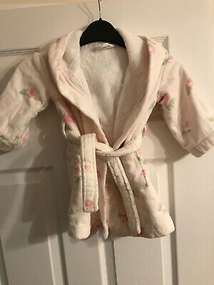 The Little White Company Floral Towelling Dressing Gown 18 - 24 Months
