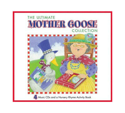 The Ultimate Mother Goose Collection 48 page Nursery Rhyme Book & 4 CD Set