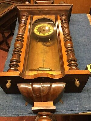 Antique Vienna Wall Clock For Restoration