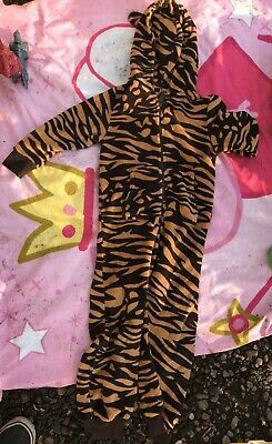 Next Girls Boys Tiger One Piece - All In One  Age 5 Years -  Good Condition