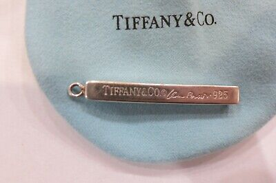Authentic Tiffany & Co Bar Stick Pendant Sterling Silver Elsa Peretti
