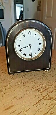 Antique Domed Enamelled Faced French Bracket Mantle Clock Working