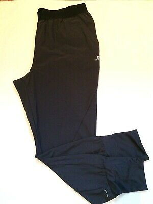 Ladies Decathlon Domyos Charcoal Grey Cuffed Leg Fitness Trousers Size 12/14