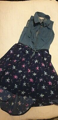 Debenhams Blue Zoo Girls Dress Size 11 Years Unicorn Party Good Condition