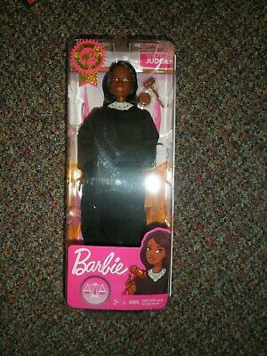 BNIP Barbie Career of the Year Judge Doll Brown Hair Kid Mattel African American