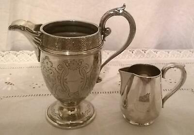 Lovely Antique Victorian Silver Plated Ornate Jugs inc.Elkington with Boar Crest