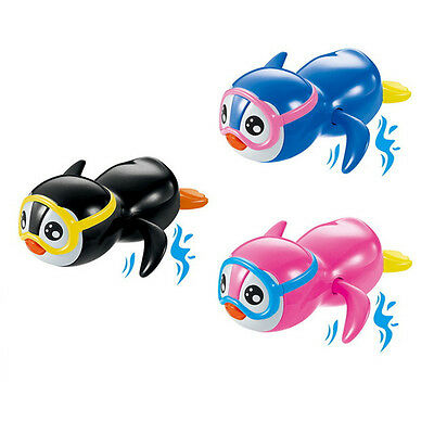 Cute Cartoon Swimming Penguin Wind Up Toy Baby Kids Bath Toy Bath Accessories