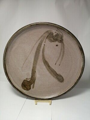 Ghita Levin '82 Studio Art Pottery New Brunswick Canada Abstract Charger Plate