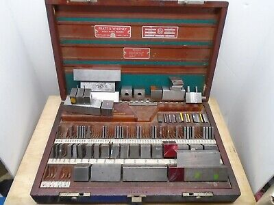 Pratt & Whitney/Hoke/Starrett 84 piece, Square, English Gage Block Set - NS17