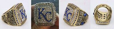 2015 Kansas City Royals World Series REPLICA Ring GLASS Size 8 *SHIPS TODAY*