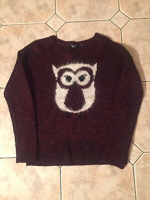 Owl New Look Jumper. Age 12 - 13 Years