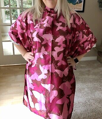 Hot Pink Butterfly Hairstyling Cape