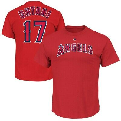 Shohei Ohtani Los Angeles Angels Majestic Men Name Number T-Shirt Large New MLB