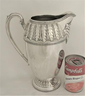 C1933 Rogers & Bros Silver Plate 56 Ounce Marquise Ice Tea Pitcher