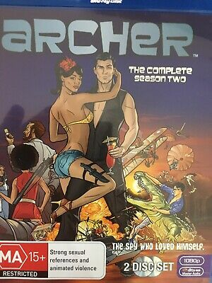 ARCHER - Season 2 2 x BLURAY Set AS NEW! Complete Second Series Two