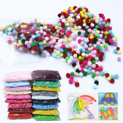 2000 pcs 8mm DIY Crafts Mini Soft Fluffy Pom Poms Pompoms Ball for Kids