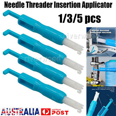 1/3/5x Needle Threader Insertion Applicator Handle For Sewing Tools Machine Sew